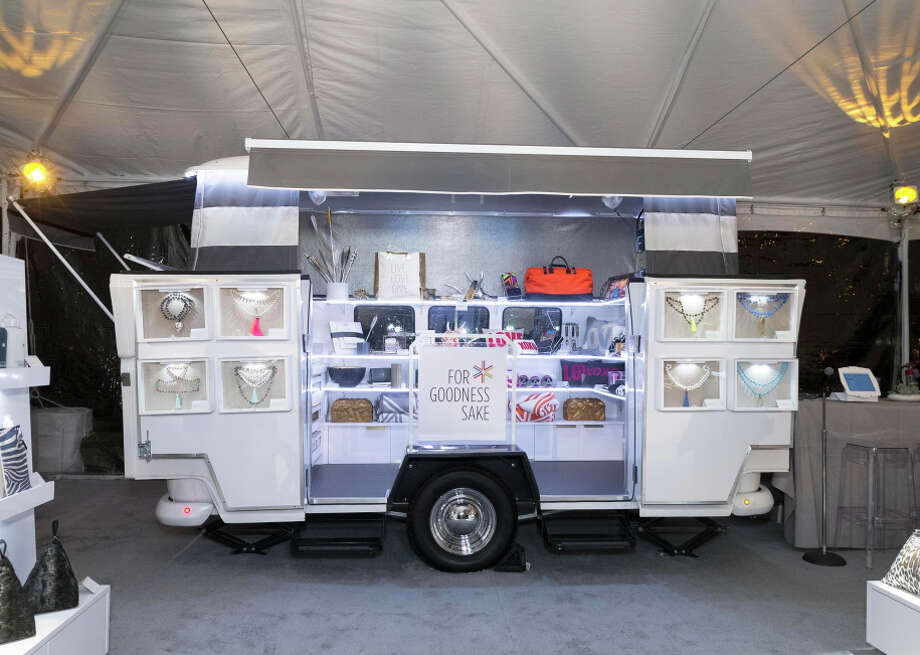The For Goodness Sake Foundation, founded by Pam Baer, features a pop-up, mobile gallery of covetable goods. Photo: Drew Altizer / Special To The Chronicle / ONLINE_YES