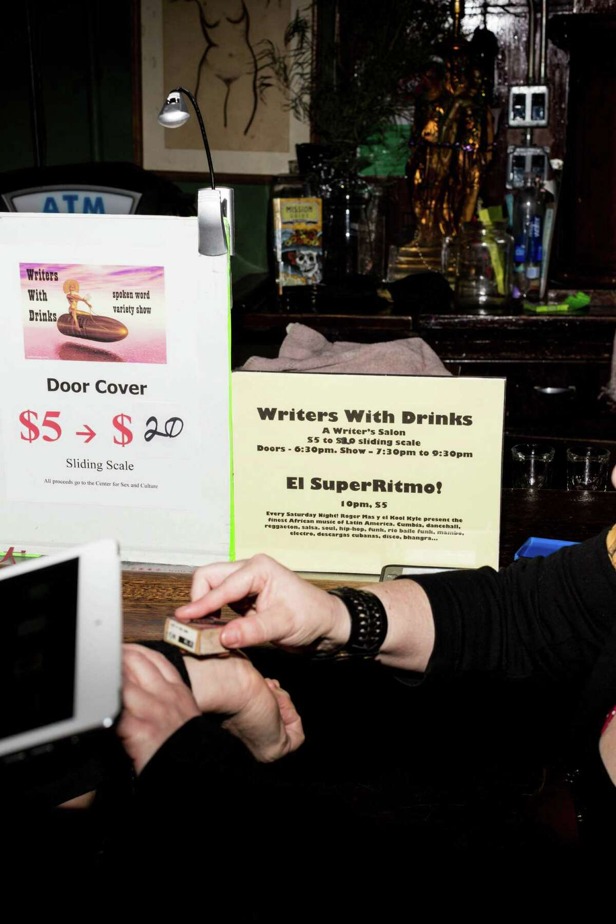 Writers With Drinks is a monthly event held at the Make Out Room in S.F.