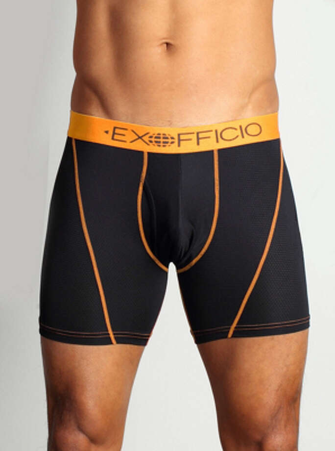 The Give-N-Go Sport Mesh Boxer Brief by Exofficio comes in a 6-inch (shown) or a 9-inch inseam. Photo: Exofficio / Exofficio / ONLINE_YES