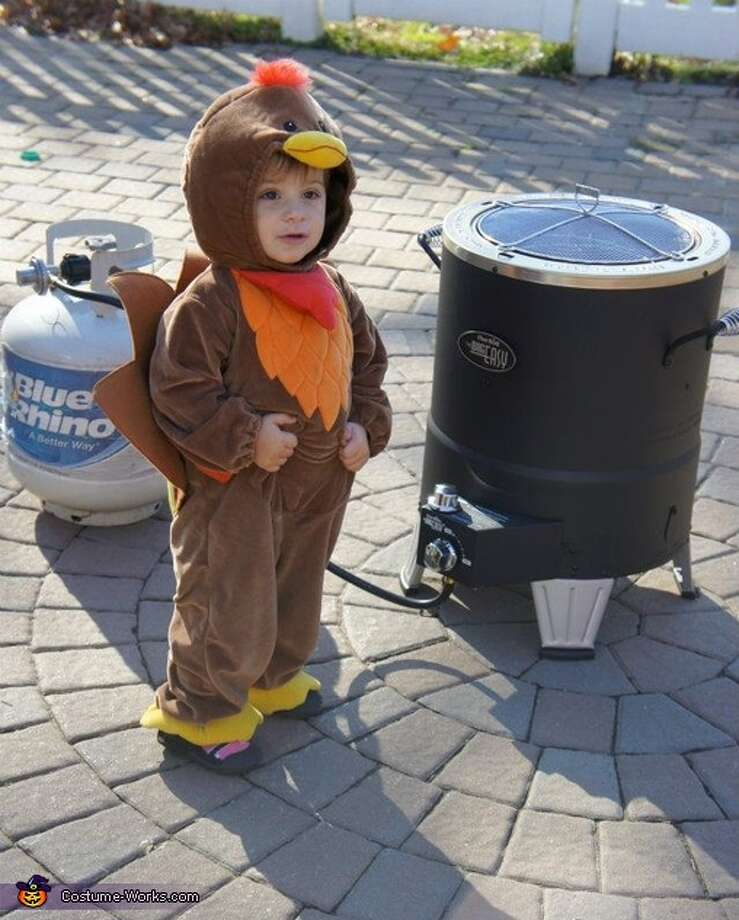 Too cute to eat! Dressing babies as deliciously cute turkeys is now a thing. Photo: Costume Works