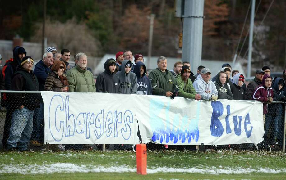 Scenes from the annual Thanksgiving day game between Ansonia and Naugatuck High Schools Thursday, Nov. 27, 2014, at Nolan Field in Ansonia, Conn. Photo: Autumn Driscoll / Connecticut Post