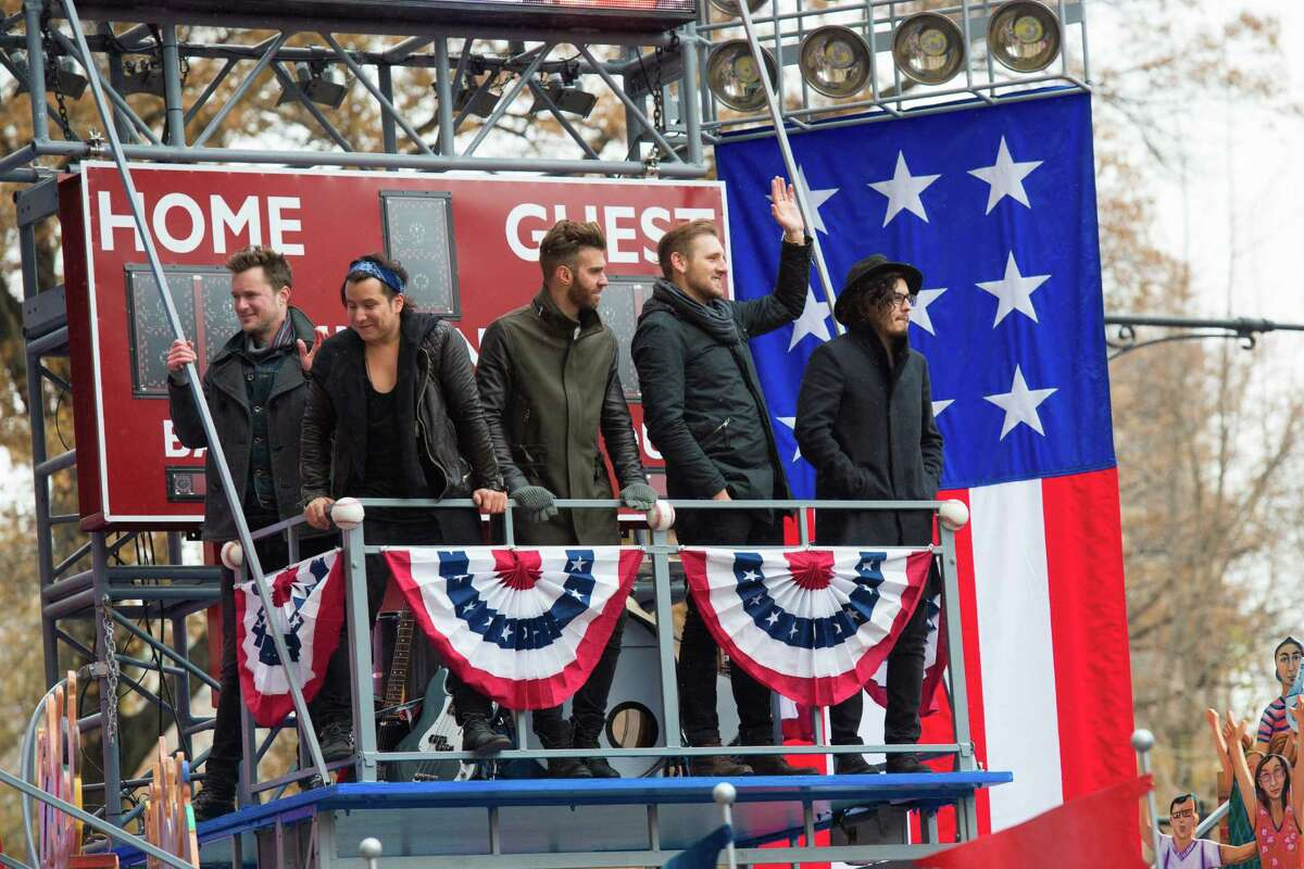 American Authors participate in the 88th Annual Macy's Thanksgiving Day Parade on Thursday, Nov. 27, 2014, in New York.