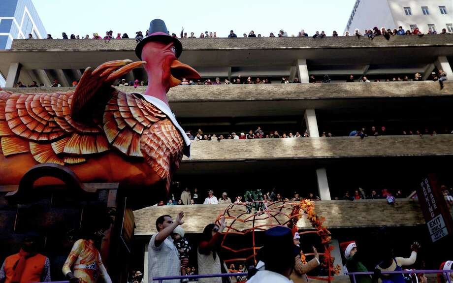 The Turkey float in the 65th Annual H-E-B Thanksgiving Day Parade Thursday, Nov. 27, 2014, in Houston, Texas. Photo: Gary Coronado, Houston Chronicle / © 2014 Houston Chronicle