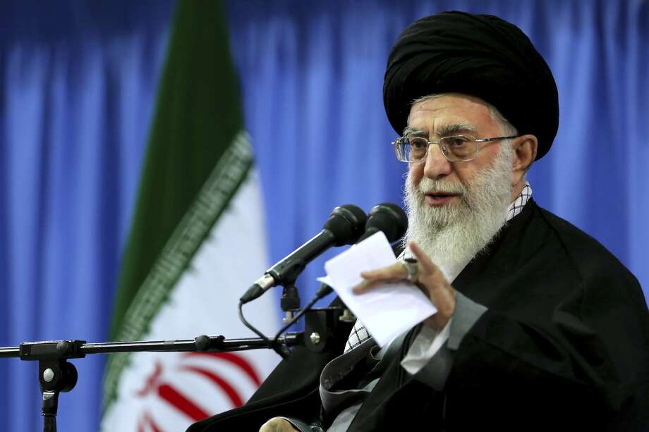 """In this photo released by an official website of the office of the Iranian supreme leader, Supreme Leader Ayatollah Ali Khamenei speaks in a gathering of senior officials of Basij paramilitary force in Tehran, Iran, Thursday, Nov. 27, 2014. Khamenei on Thursday said he would not stand in the way of continued nuclear negotiations with world powers and would accept a """"fair"""" agreement, but vowed not to bow to bullying by the United States. (AP Photo/Office of the Iranian Supreme Leader) Photo: UNCREDITED / Associated Press / Office of the Iranian Supreme Le"""
