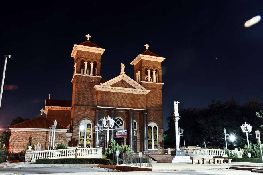 A thirty second exposure of St. Anthony Cathedral-Basilica located at 700 Jefferson Street in downtown Beaumont on December 5, 2012. Photo taken: Randy Edwards/The Enterprise