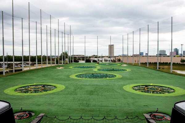 The various driving range targets are seen from an elevated driving range bay at Top Golf on Thursday, Nov. 20, 2014, in Katy. ( Brett Coomer / Houston Chronicle )