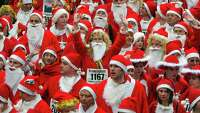 Jingle all the way ... to the starting line - Photo