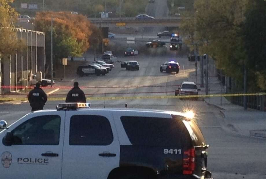 Police say the suspect shot, who died, shot at the Mexican Consulate, police headquarters and other Austin buildings. Photo: Jim Vertuno / Associated Press / ap
