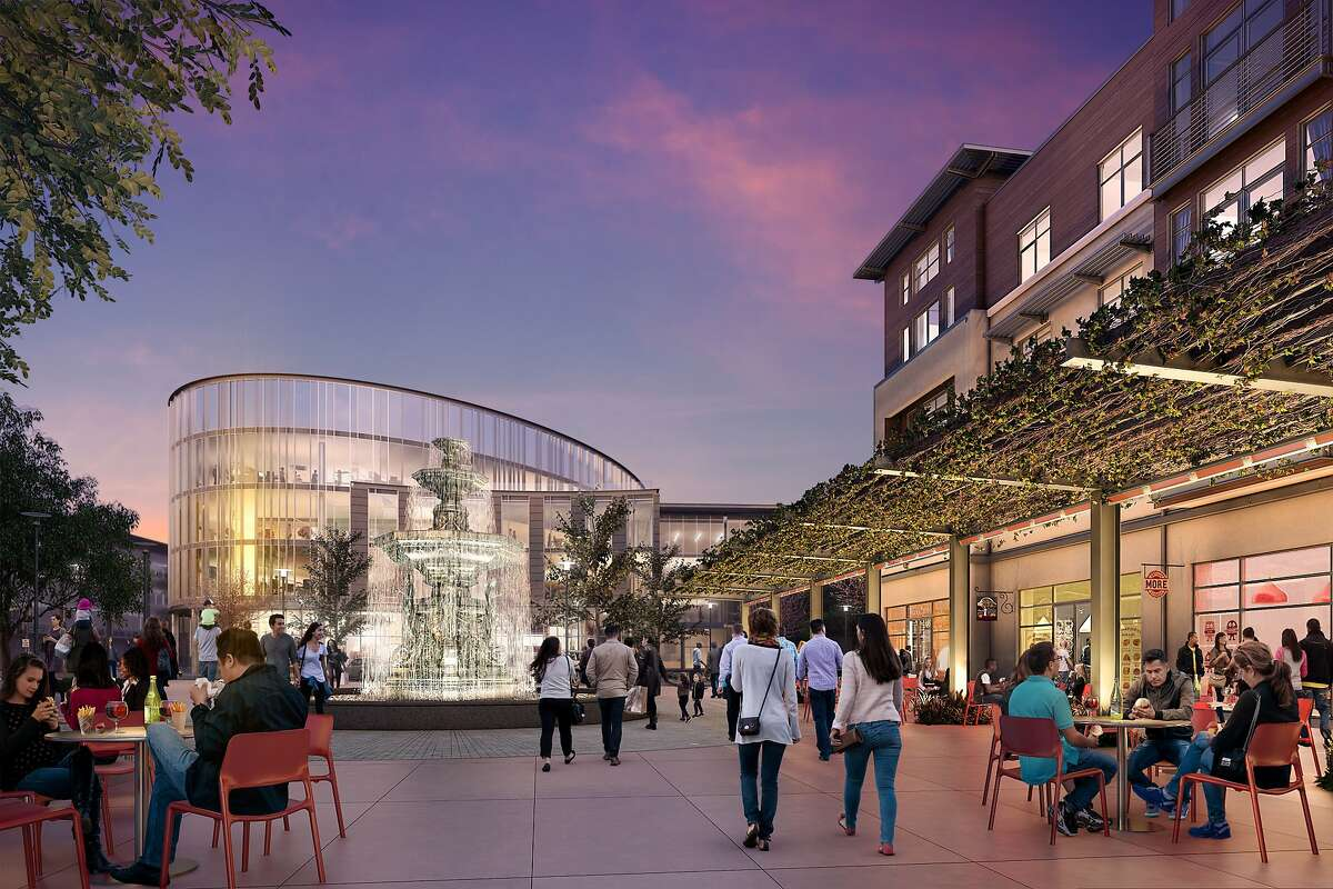 Renderings of Bay Meadows Station 4. It's the first commercial development of its kind at the former site of 74-year-old Bay Meadows racetrack.