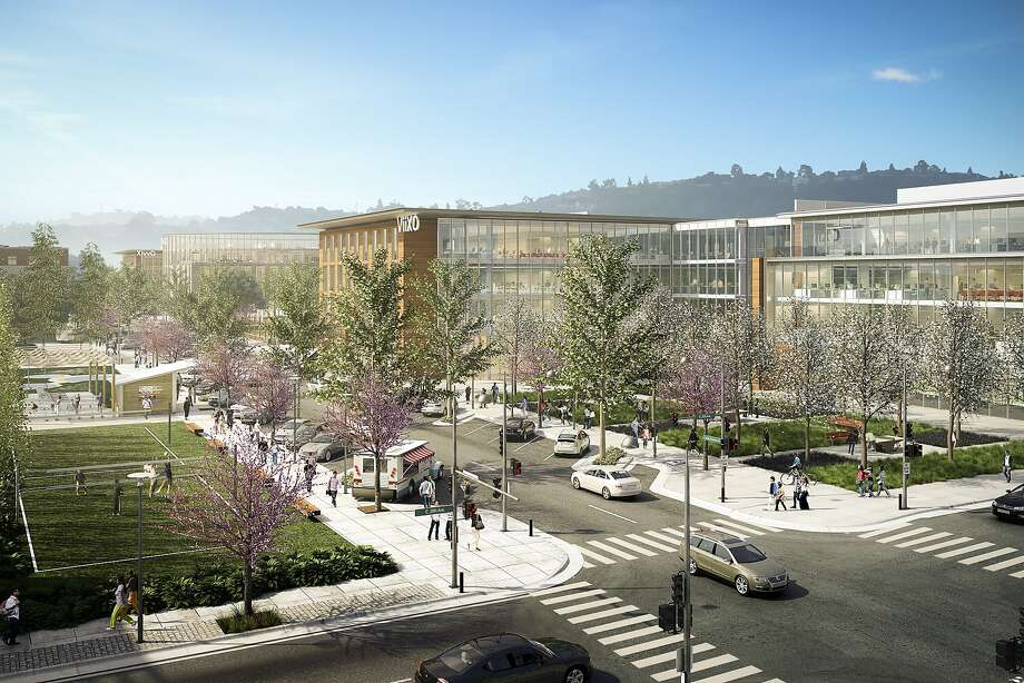 Ground is being broken next week on the first of five office buildings  totaling up to 1.5 million square feet in a development dubbed Bay  Meadows Station 4. Photo: Wilson Meany