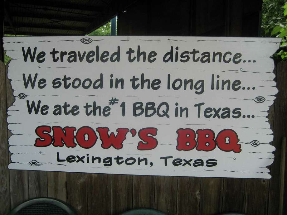 Snow's BBQ in Lexington gave rise to blockbuster barbecue, creating legendary long lines. Photo: Greg Morago, HC Staff / Houston Chronicle