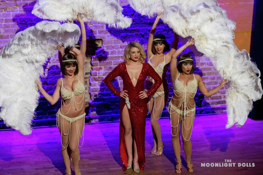 Scenes from the Moonlight Dolls burlesque show at Prohibition SupperClub & Bar in downtown Houston. Photo: William Hardin / William Hardin Photography