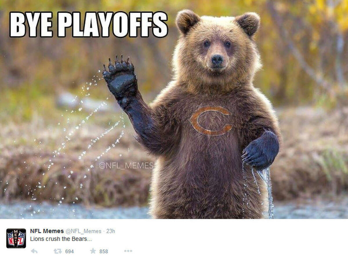 November 27, 2014 Chicago Bears @ Detroit Lions, Score: 17-34 Photo by @NFL_Memes