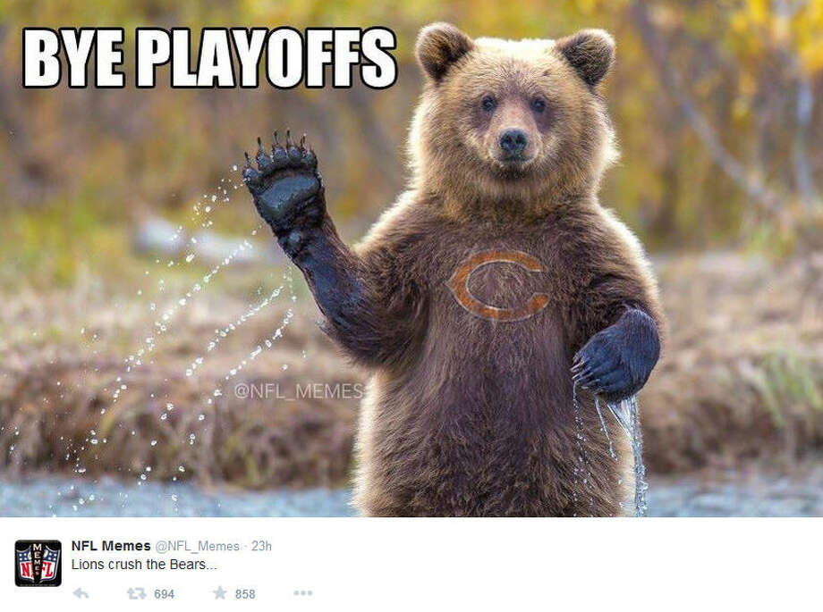 November 27, 2014Chicago Bears @ Detroit Lions, Score: 17-34Photo by @NFL_Memes