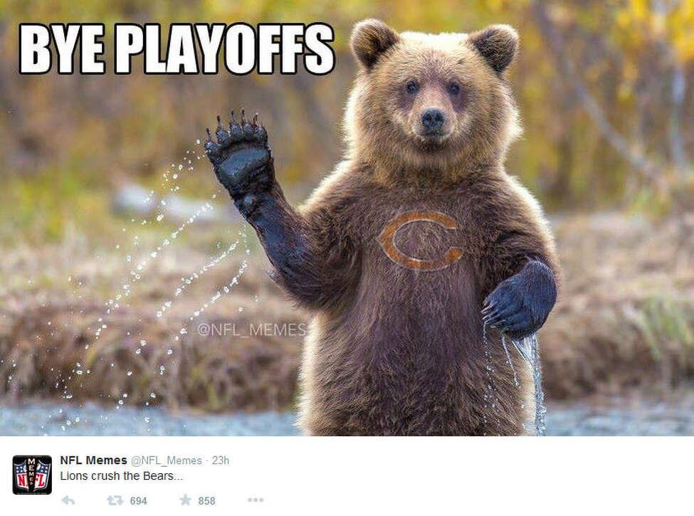 November 27, 2014 Chicago Bears @ Detroit Lions, Score: 17-34 Photo by @NFL_Memes