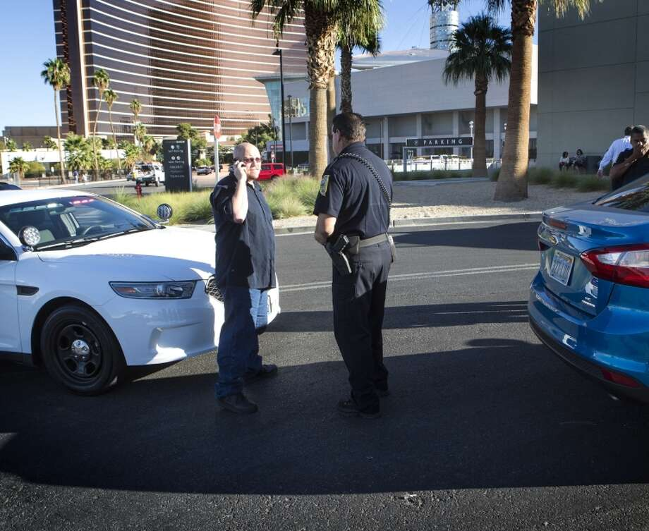 Driver Michael Elsner calls Uber after being detained by the Nevada Transportation Authority. Photo: Jeff Scheid / Associated Press / Las Vegas Review-Journal