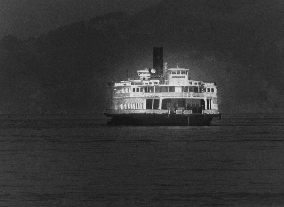 The steam ferry boat Eureka heads back to San Francisco and the Hyde Street Pier   Photo ran 05/17/1990, P. A7 Photo: Vincent Maggiora, The Chronicle