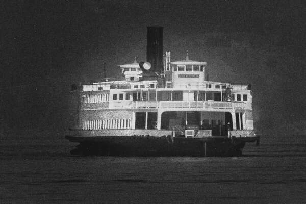 The steam ferry boat Eureka heads back to San Francisco and the Hyde Street Pier   Photo ran 05/17/1990, P. A7