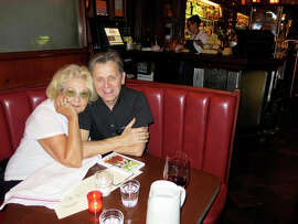 "Jeannette Etheredge, former Tosca owner, and longtime pal actor-dancer Mikhail Baryshnikov celebrate the 95th anniversary of the North Beach cafe. ""We had some great times,"" Etheredge recalls."