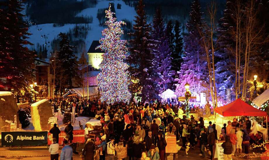 In Vail, the town's mayor launches the Family Holidaze celebration with a tree lighting, live entertainment and free hot chocolate Dec. 21. Photo: Jack Affleck / Vail Resorts