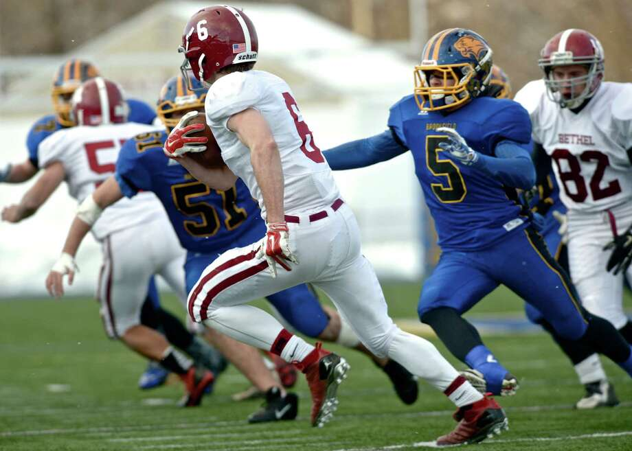 SWC high school football game between Bethel and Brookfield high schools on Friday, November 28, 2014, at Brookfield High School, Brookfield, Conn. Photo: H John Voorhees III / The News-Times