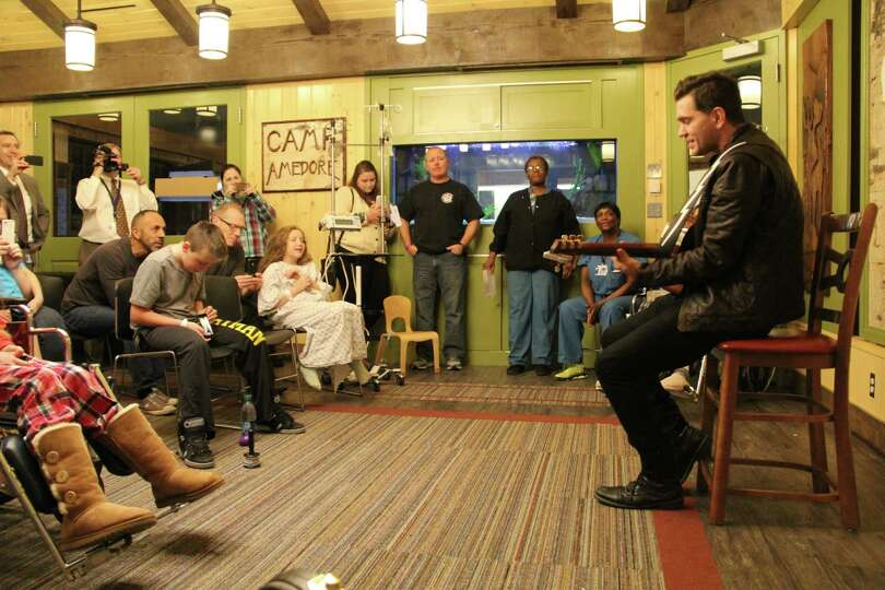 Singer-songwriter Andy Grammer visited children last week at Albany Medical Center and sang four son