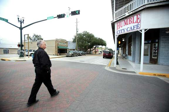 His daily walk often finds Mayor Donnie McMannes passing the Humble City Café on Main Street.