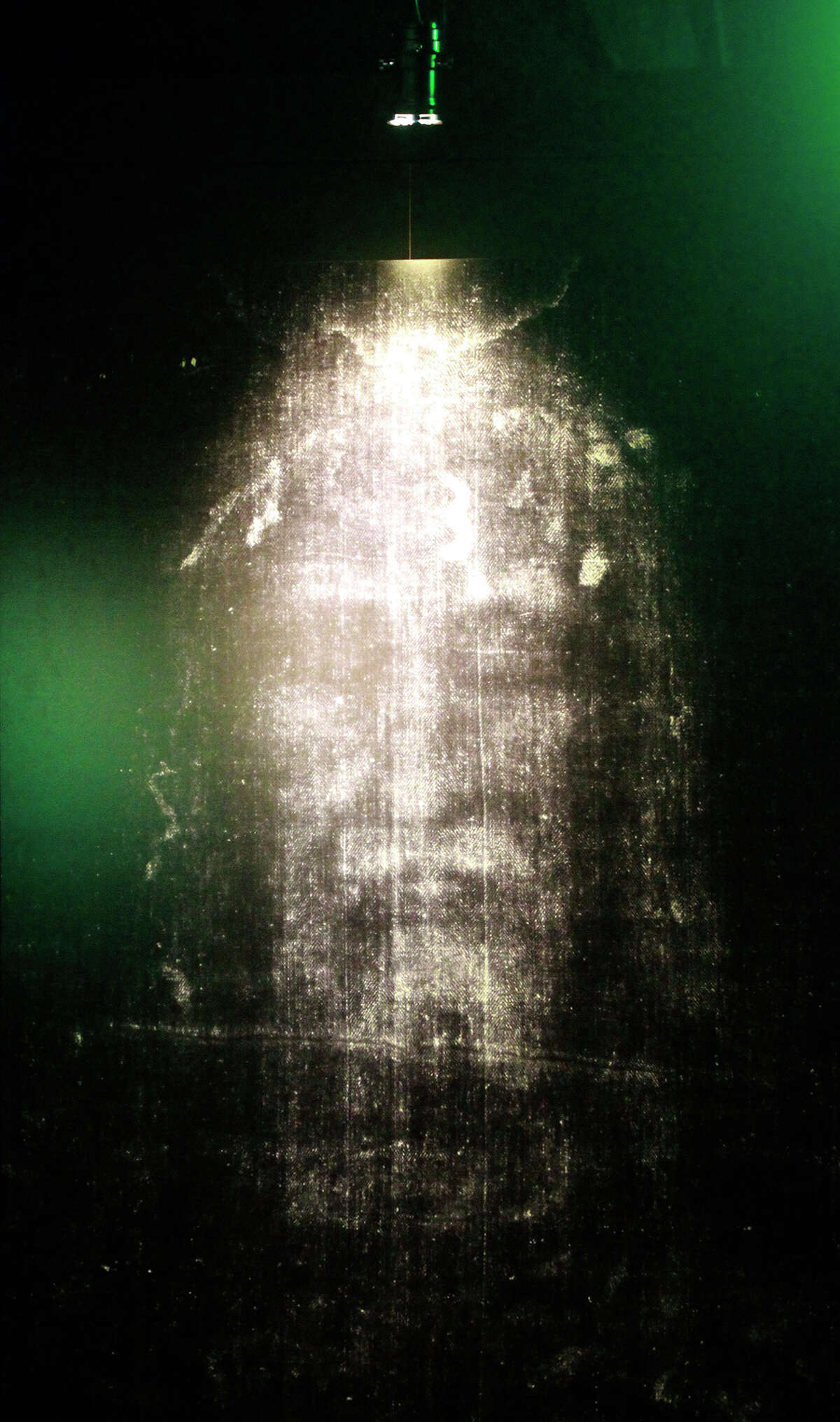 An image of the Shroud of Turin is on display at an exhibit that runs through Jan. 25 at 416 Dolorosa St. downtown.