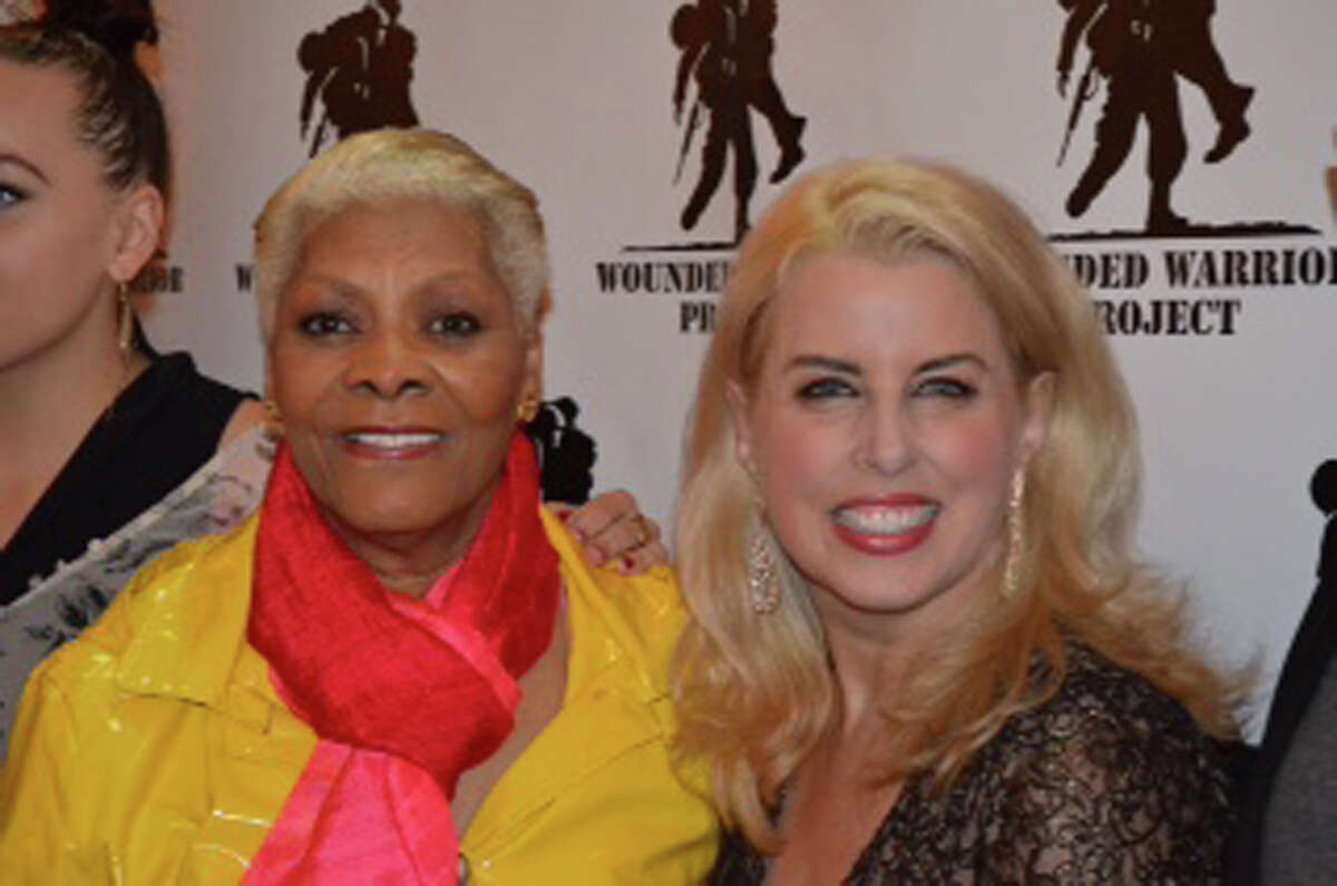 Legendary singer Dionne Warwick with TV/radio host Rita Cosby at The Wounded Warrior celebration in New York last week.