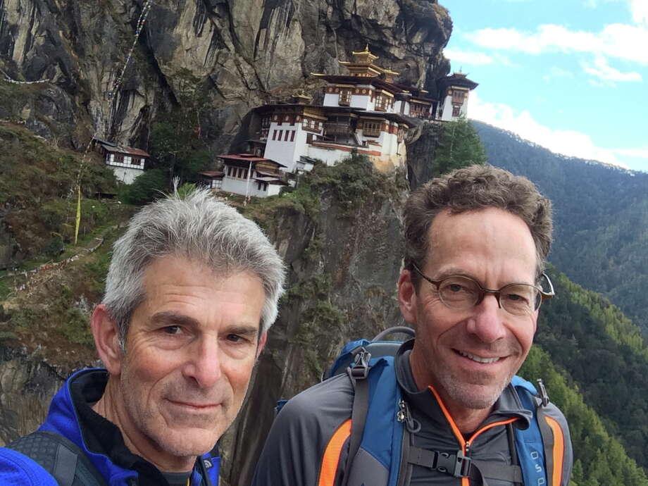 Jeffrey Fraenkel takes a selfie with partner Alan Mark hiking in Bhuton in October, 2014 Photo: Jeffrey Fraenkel / /
