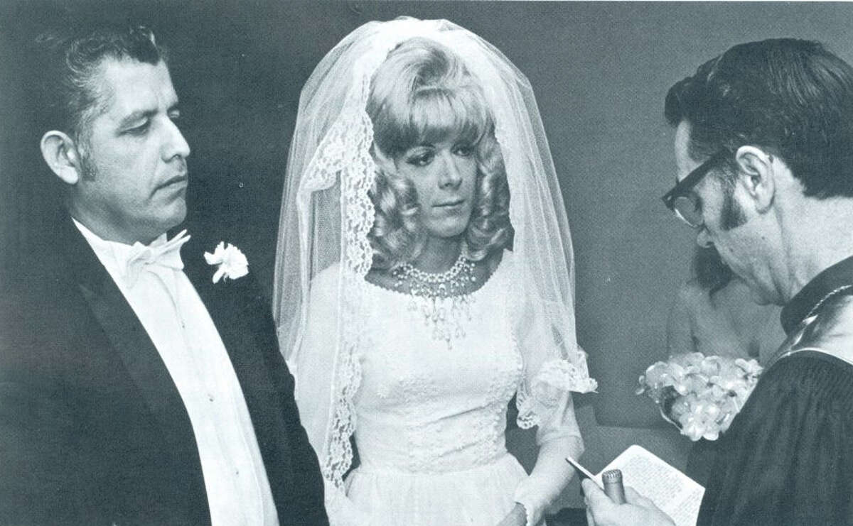 One step forward, two steps back October 6, 1972: Texas marks its first same-sex marriage at Harmony Wedding Chapel along the Gulf Freeway in Houston. But it was an inadvertent feat. Wharton County Clerk Delfin Marekgranted a marriage license to Antonio Molina and William