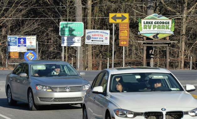 Roadside signage at the intersection of Route 9 and Route 9N south Wednesday Nov. 19, 2014, in Lake George, NY.  (John Carl D'Annibale / Times Union) Photo: John Carl D'Annibale / 00029526A