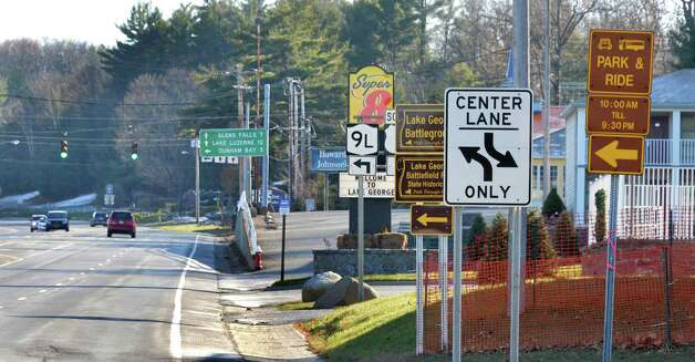 Route 9, looking south toward the Route 9N south intersection  Wednesday Nov. 19, 2014, in Lake George, NY.  (John Carl D'Annibale / Times Union) Photo: John Carl D'Annibale / 00029526A