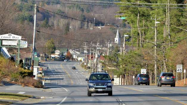 Route 9, looking north towards the village line Wednesday Nov. 19, 2014, in Lake George, NY.  (John Carl D'Annibale / Times Union) Photo: John Carl D'Annibale / 00029526A