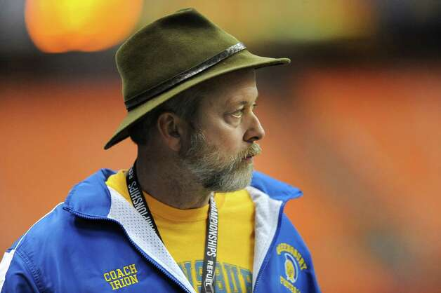 Queensbury's John Irion, left, watches from the sidelines during his team's Class A state football final against Indian River on Sunday Nov. 30, 2014, at the Carrier Dome in Syracuse, N.Y. (Cindy Schultz / Times Union) Photo: Cindy Schultz / 00029663A