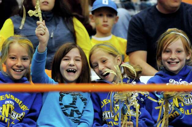 Queensbury fans shows support for their team during the Class A state football final against Indian River on Sunday Nov. 30, 2014, at the Carrier Dome in Syracuse, N.Y. (Cindy Schultz / Times Union) Photo: Cindy Schultz / 00029663A