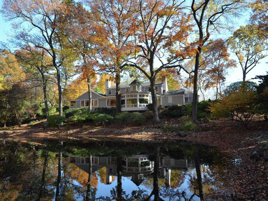 The property at 19 Canoe Trail is on the market for $2,675,000. Photo: Contributed Photo / Darien News