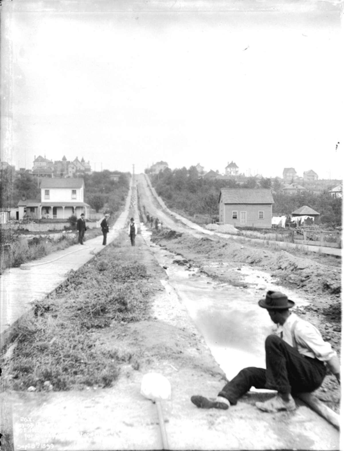 East Harrison Street, pictured Sept. 8, 1899.