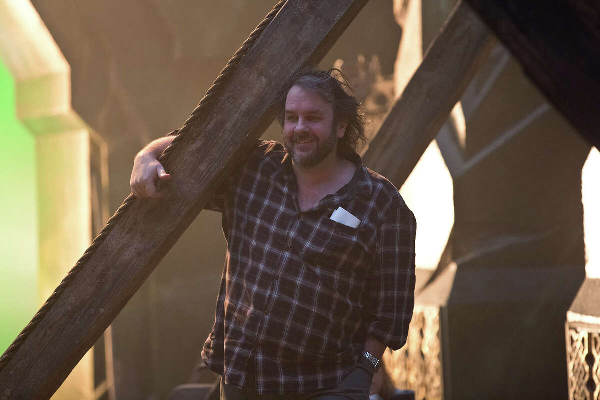 Director Peter Jackson on the set of