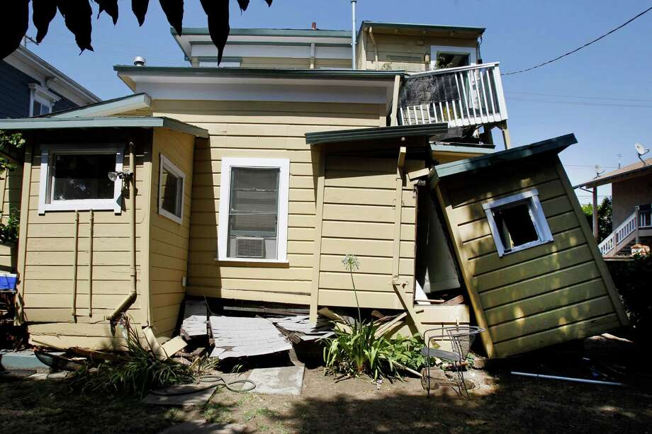 A home near downtown Napa that was damaged in the 2014 earthquake. Photo: Brant Ward, File Photo / ONLINE_YES