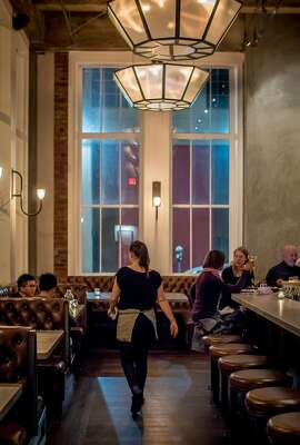 The interior of Trou Normand in San Francisco, Calif. is seen on November 29th, 2014.