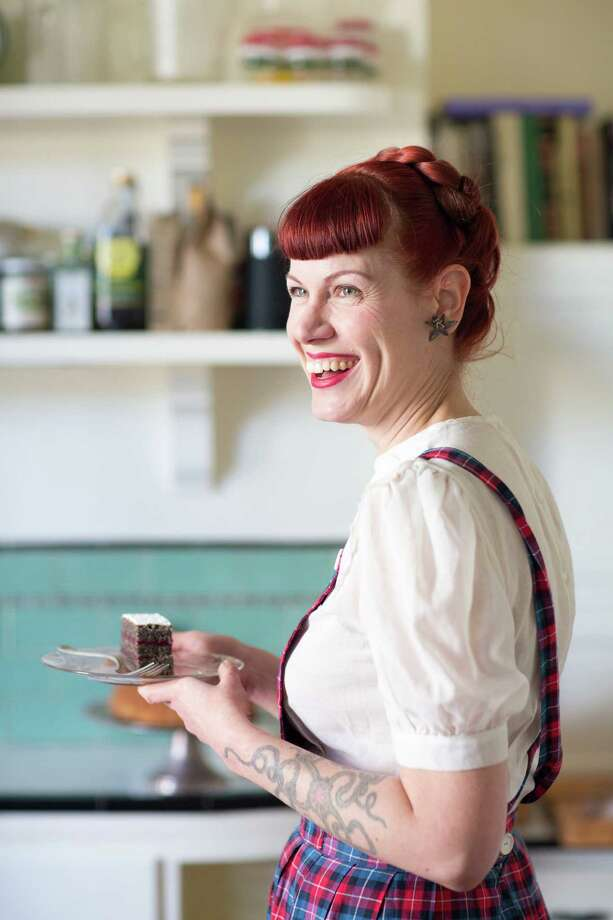 Michelle Polzine is photographed with her gluten-free mohnkuchen at her home in San Francisco. Polzine is the chef/owner/head baker of 20th Century Cafe and Viennese coffeecake is a traditional Eastern European holiday dessert. Photo: Randi Lynn Beach / Special To The Chronicle / ONLINE_YES