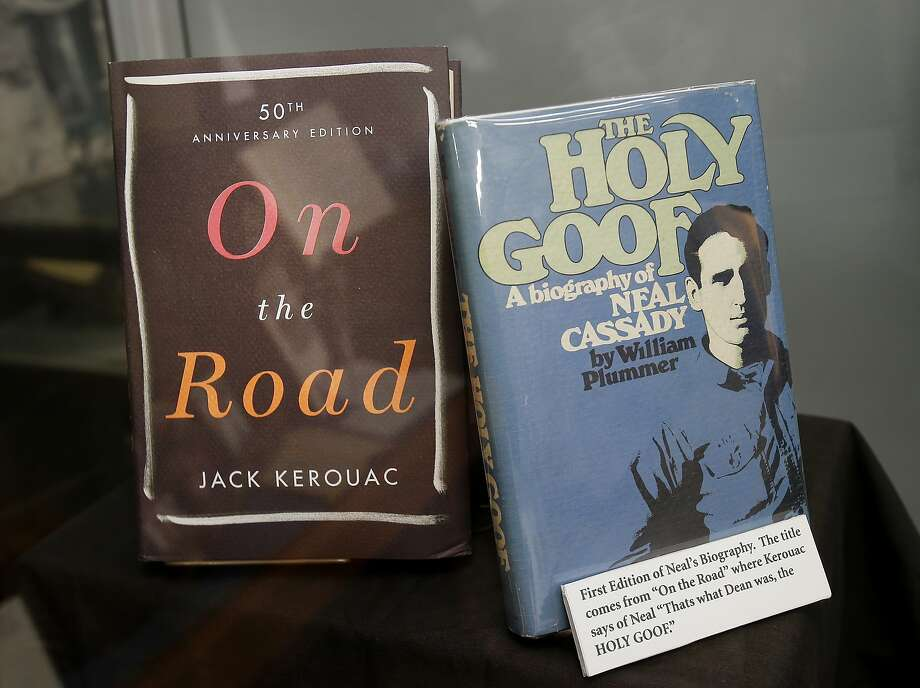 "A display at the Beat Museum shows Jack Kerouac's famous book (left) and a biography of Neal Cassady Monday December 1, 2014. A lost letter written from BEAT hero Neal Cassady to author Jack Kerouac was displayed at the Beat Museum in San Francisco, Calif. before being auctioned soon. The letter is purportedly what caused Kerouac to start over with ""On the Road,"" his famous novel of the Beats. Photo: Brant Ward, The Chronicle"