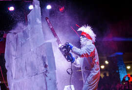 An ice-sculpting exhibit is among the attractions at Heavenly Village this year as part of its Heavenly Holidays festivities, which culminate with the New Year's Eve extravaganza, gondola ball drop included.