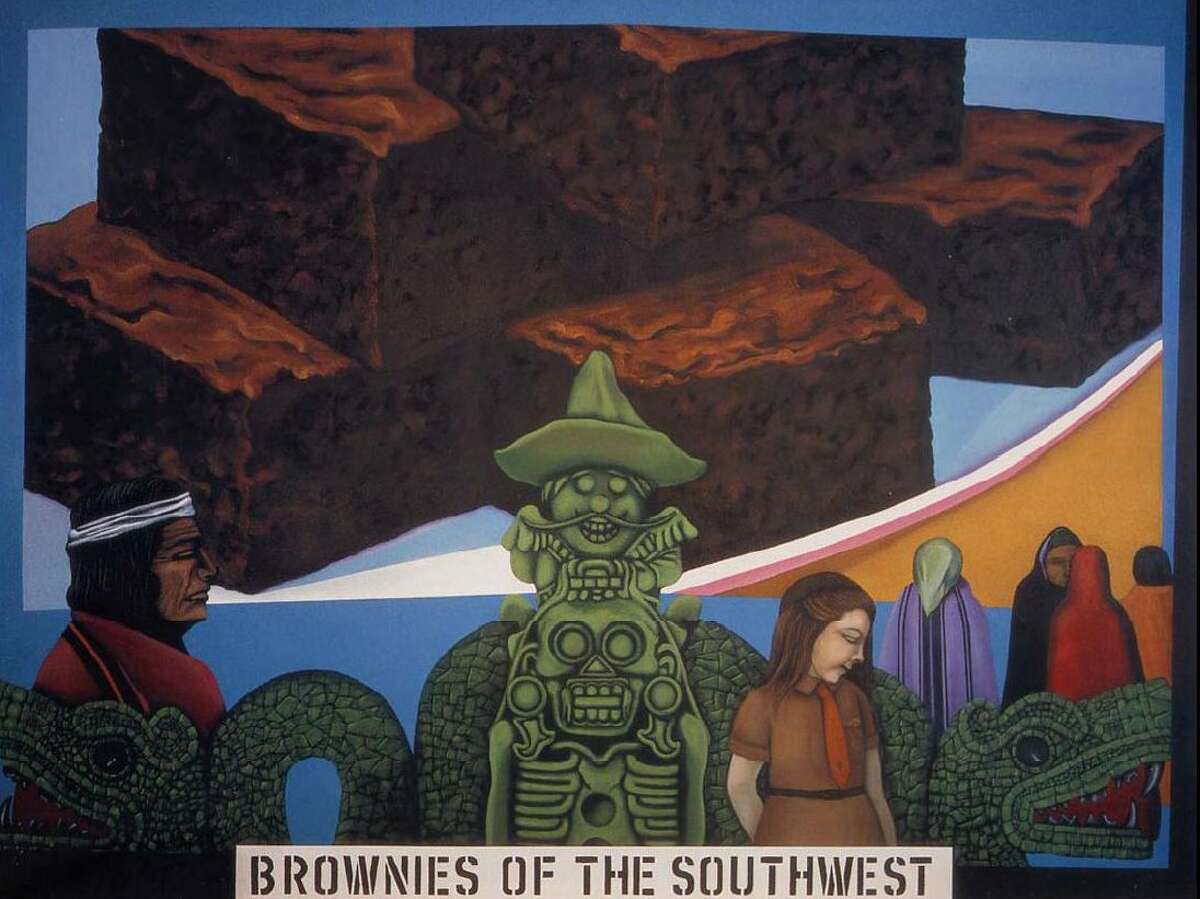 """""""Humanscape 62 (Brownies of the Southwest),"""" a 1970 painting by Mel Casas, is part of the permanent collection at the Smithsonian American Art Museum."""