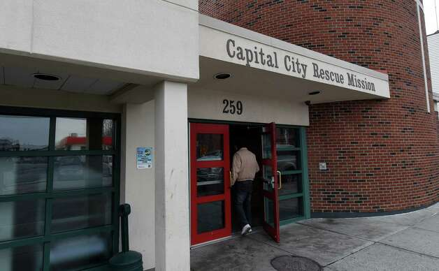 Exterior view of the Capital City Rescue Mission Monday morning, Dec. 1, 2014, in Albany, N.Y. (Skip Dickstein/Times Union) Photo: SKIP DICKSTEIN