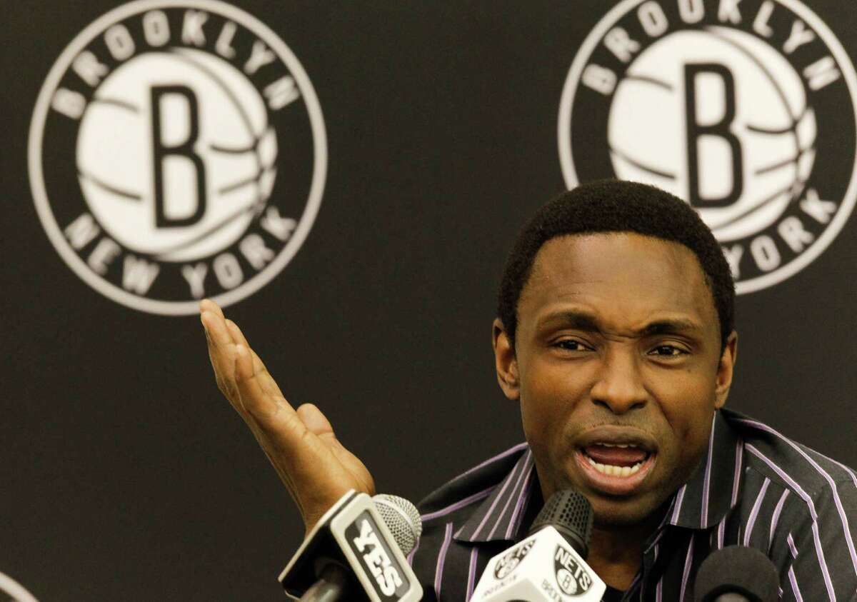 EAST RUTHERFORD, NJ - DECEMBER 27: Former Brooklyn Nets head coach Avery Johnson speaks after his firing during a news conference at the PNY Center on December 27, 2012 in East Rutherford, New Jersey. NOTE TO USER: User expressly acknowledges and agrees that, by downloading and or using this photograph, User is consenting to the terms and conditions of the Getty Images License Agreement.