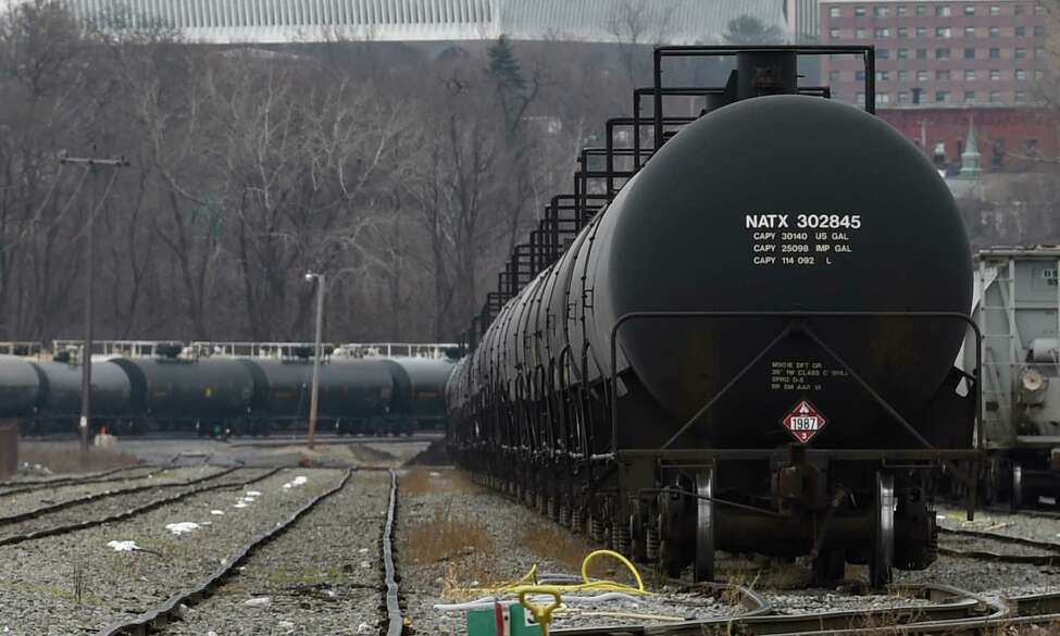 Oil tank cars sit idle at the Port of Albany Monday afternoon, Dec. 1, 2014, in Albany, N.Y. (Skip Dickstein/Times Union)