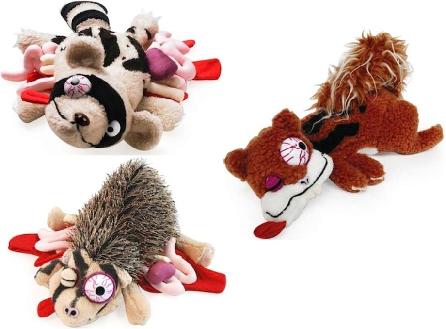 Roadkill Toys: Why cuddle with a sweet teddy bear when you can go to sleep with Smudge the Squirrel or Splodge the Hedgehog. You can pull the guts right from their bellies. Amazon, $25.