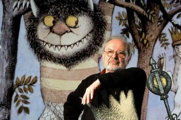 """Author/illustrator Maurice Sendak standing by an life-size scene from his book """"Where the Wild Things Are,"""" at the Children's Museum of Manhattan which is honoring his 50 years of work with an exhibit. Sendak's estate has exercised an option to reclaim some 10,000 drawings from a museum in Philadelphia, to eventually build a museum in Ridgefield, Conn. Photo: James Keyser, James Keyser/The LIFE Images Collection"""
